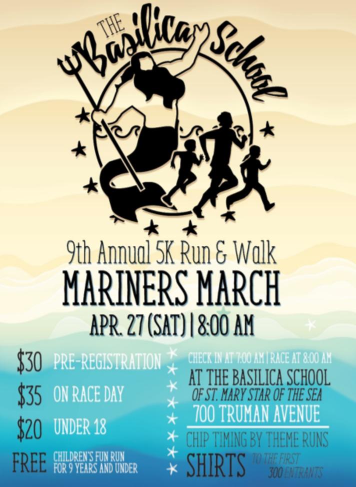 9th Annual 5K Run & Walk Mariners March